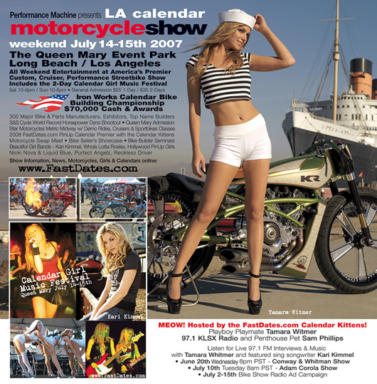 female singers, concert, Calendar girl Music Festival, The Queen mary. LA Calendar Motorcycle Show. Kari Kimmel, Whole Lotta Rosies. Liquid Blue, Purrfect Angelz, Hollywood PinUp Girls