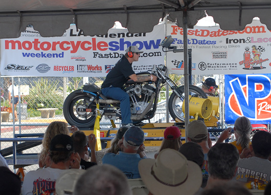 LA Calendar Motorcycle Show S&S Cycle World Record Dyno Horsepower Shootout