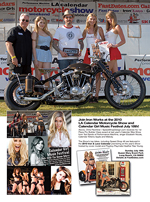 Iron Works magazine deature report LA Calendar Motorcycle Show