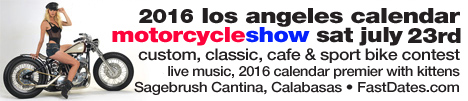 LA Calendar Motorcycle Show Weekend long Beach Queen mary