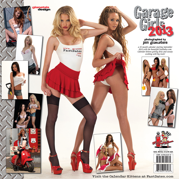 Garage Girls 2013 calendar
