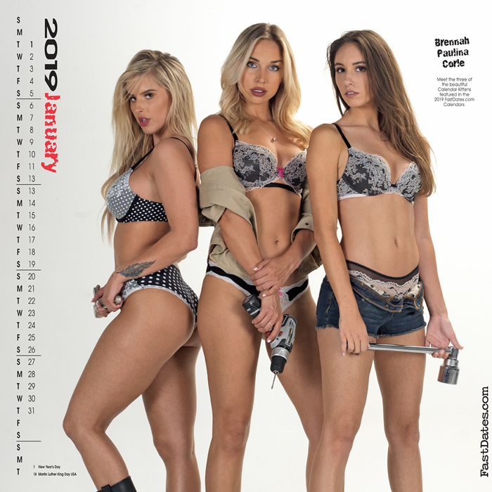 2018 Garage Girls Swimsuit Model Calendar
