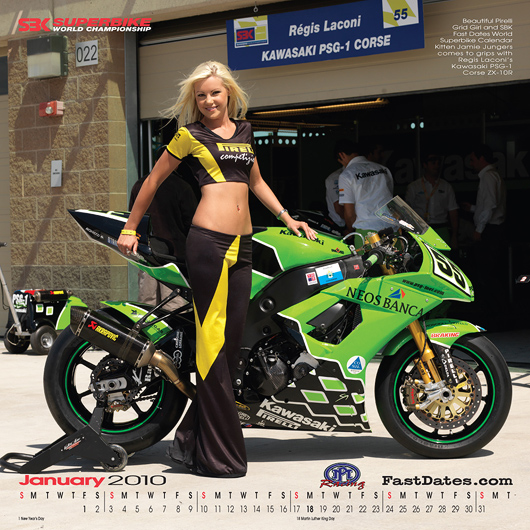 Fast dates 2010 Calendar with Jamie Jungers