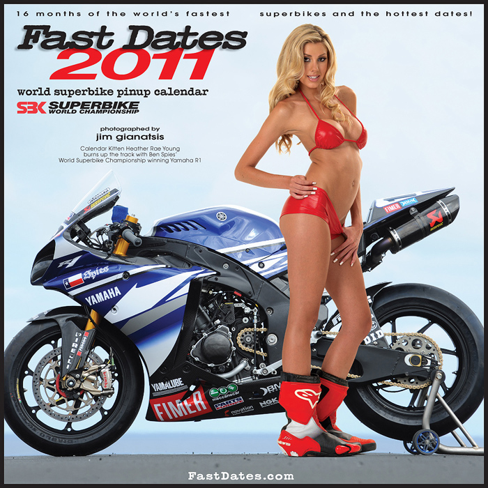 Heather rae Young Playboy Playmate cover 2011 FastDates World Superbike Calendar