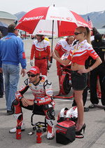 Heather rae Young, Michele Fabrizio, starting grid world superbike