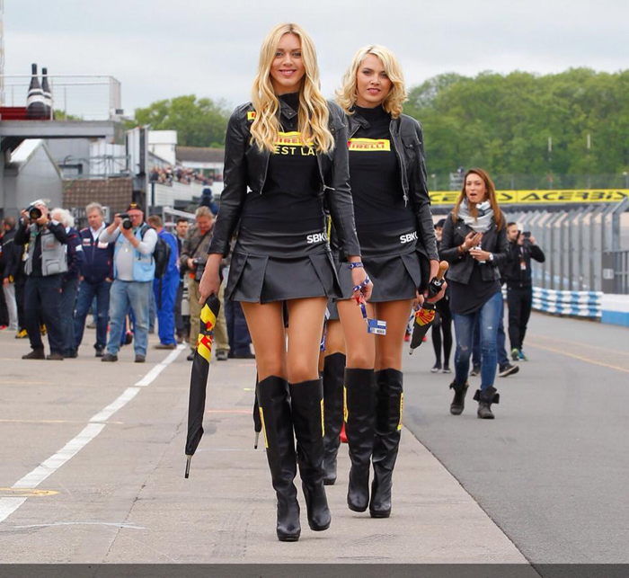 Petra and Jitka at Donington World Superbike