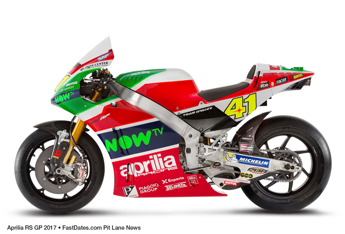 Aprilia RS-GP 2017 MotoGP motorcycle