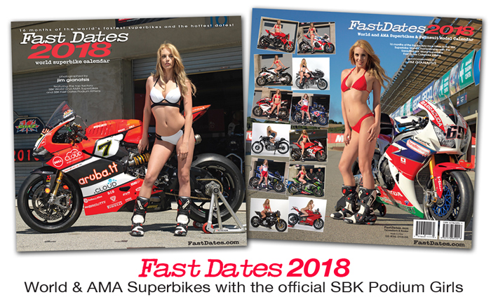 Fast Dates 2018 World Superbike Calendar order here