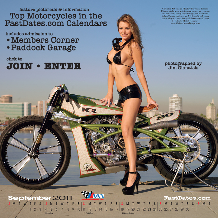 Calendar Motorcycle garage custom bikes and racing bikes feature in the Fastdates.com Calendars photos, photo pictorials high resolution hi-res