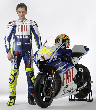 Valentino Rossi 2009 Yamaha M1 MotoGP motorcycle photo galley