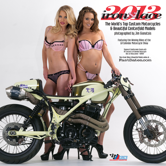 Iron & Lace custom V-twin calendar