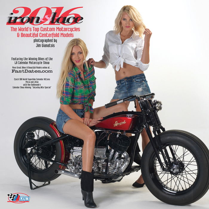2015 Iron & Lace Custom Motorcyle PinUp Model Calendar