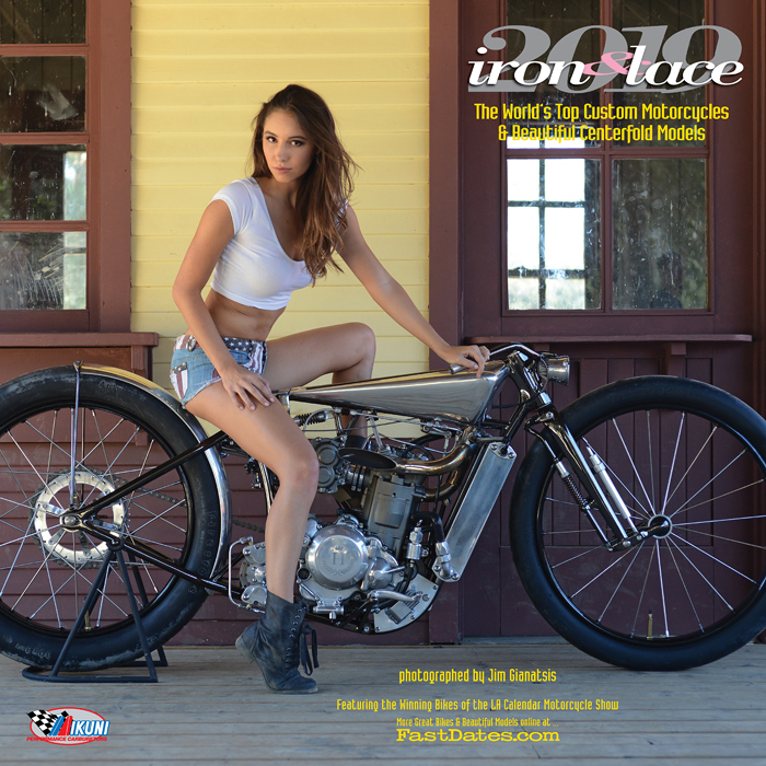2018 Iron & Lace cutom motorcycle PinUp Model Calendar