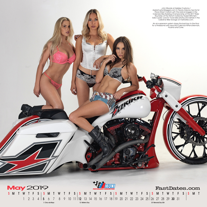 Iron & Lace Calendar custom motorcycle photo