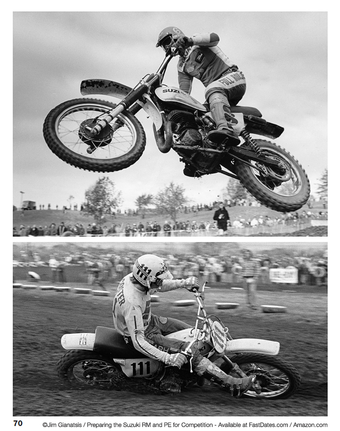 Jim Gianatsis classic motocross photography, Tony Distefano, Roger DeCoster photo photos photography stock