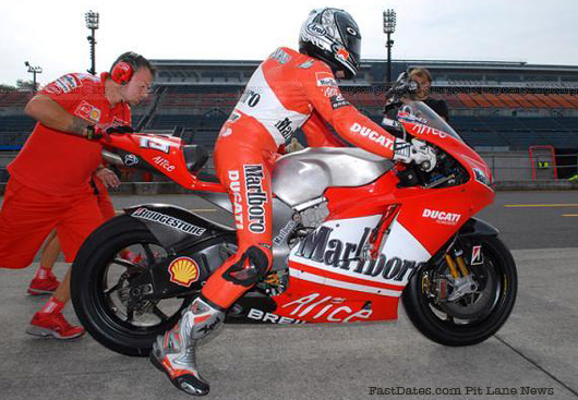 Ducati 800cc MotoGP test bike