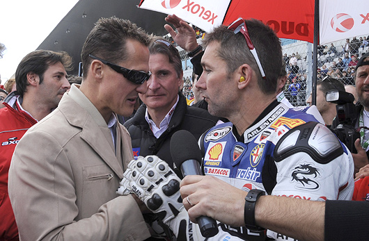 Troy Bayliss, Michael Schumacher