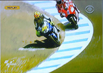 Rossi Stoner racing photos crash laguna Seca MotoGP