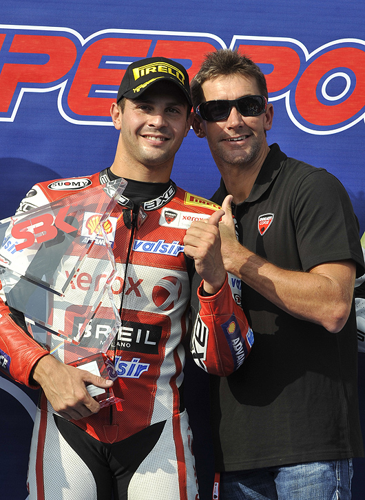 Michel fabrizio, Troy Bayliss photo, Imola World Superbike