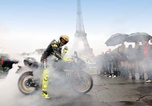 Valentino Rossi Paris MotoGP Monster promotion