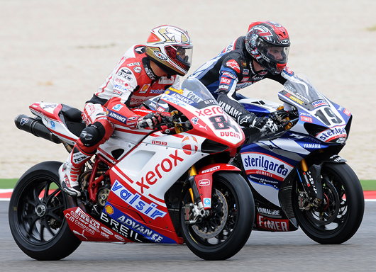 Michel Fabrizio, Ben Spies Misano World Superbike