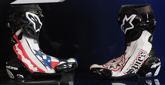 Ben Spies Texas USA Alpinestars boots