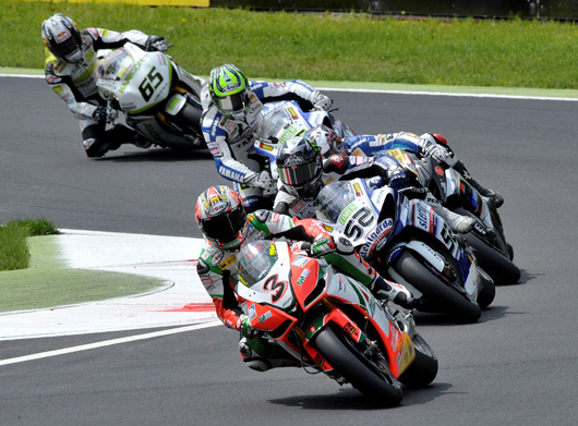 Biaggi Monza race action photo
