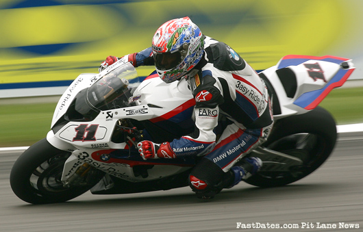 Troy Corser BMW race action Monza world superbike