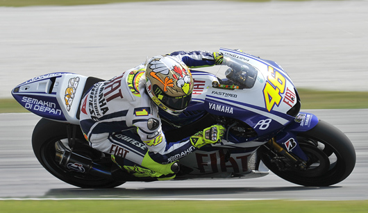 Valentino Rossi action photo sepang MotoGP Test
