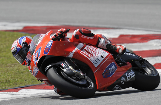 Casey Stoner Ducati Sepang MotoGP Test photo