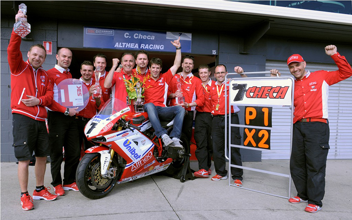 Team Althea ducati Phillip Island photo World Superbike 2011