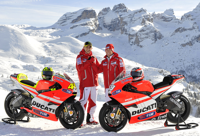 Ducati 2011 MotoGP Team Wroom Press iontroduction italy Valentino Rossi Nicky Hayden