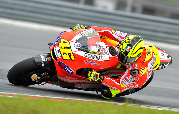 Valentiono Rossi Ducati MotoGP test Sepang photo pictures