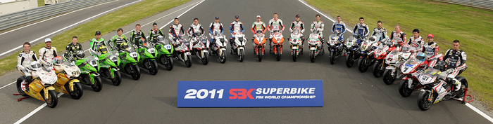 SBK World Superbike rider group photo 2011
