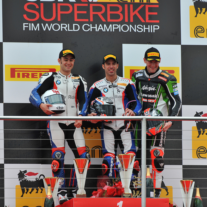 Donnington SBK Podium race one