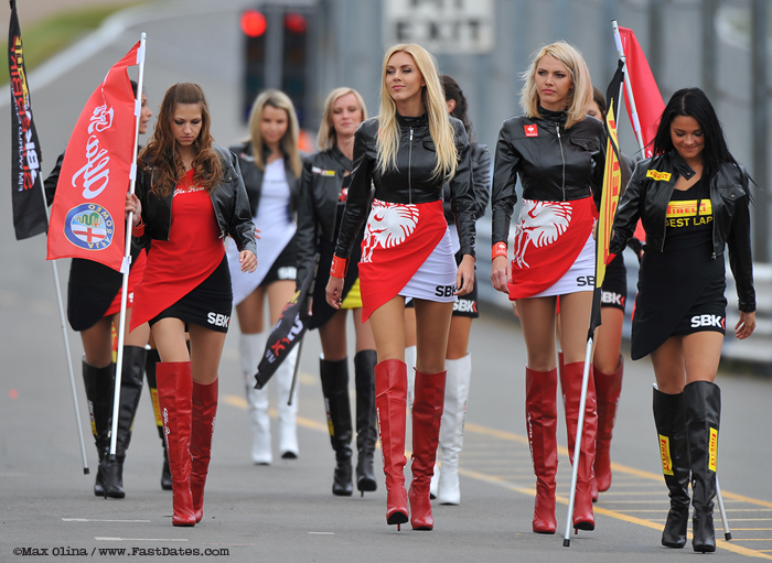 SBK Grid girls umbrella