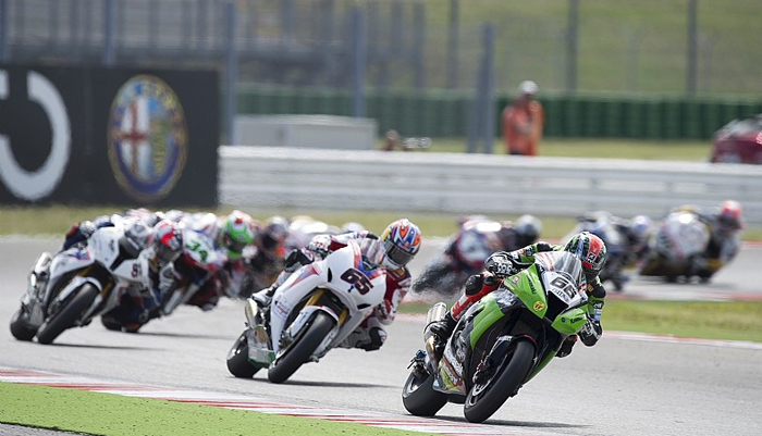 Tom Sykes race action Misano
