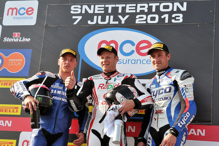 Snetterton podium British Superbike 2013