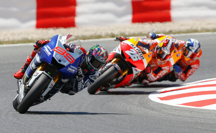 Catalunya MotoGP race action
