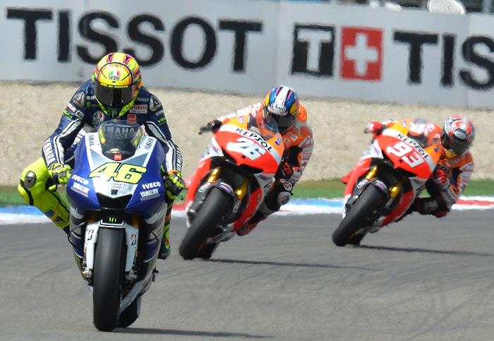 Valentino Rossi Assen race action photo