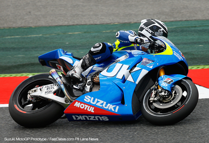Suzuki MotoGP bike prototype test 2013