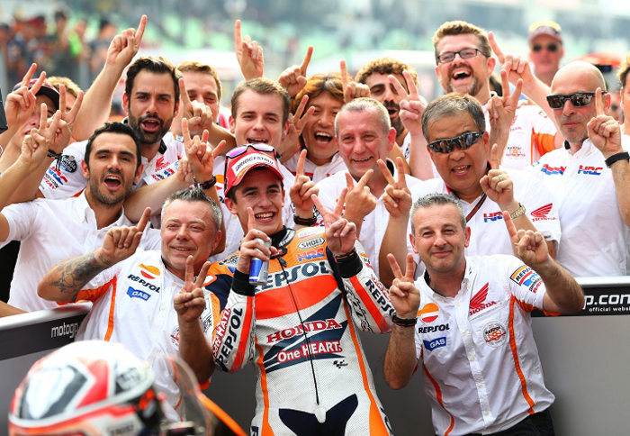 Marquez team victory phto sepang