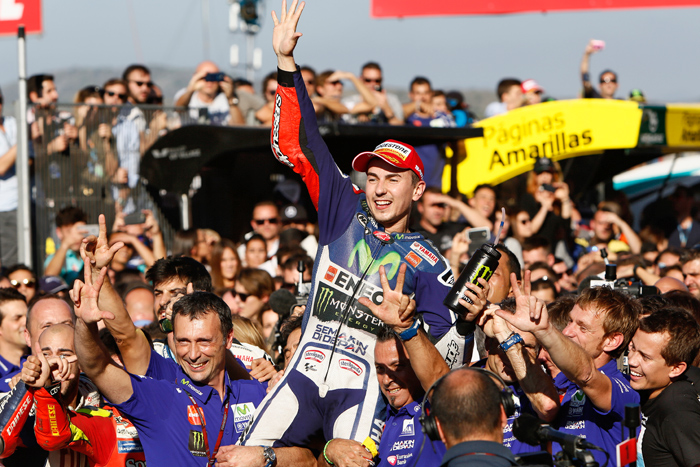 Lorenzo MotoGP World Champion Valencia 2015