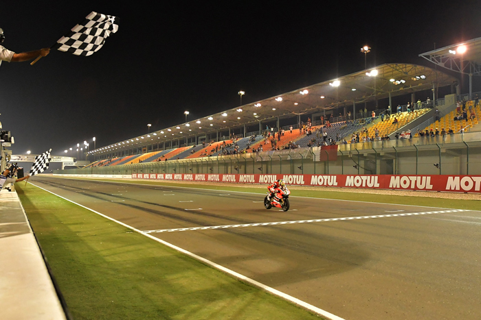 Davies win qatar starting finish line photo 2016