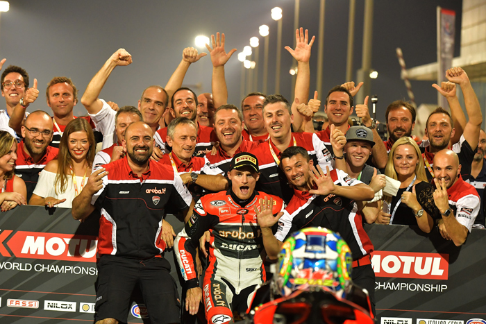 Davies team victory Losail Qatar SBK World Superbike 2016