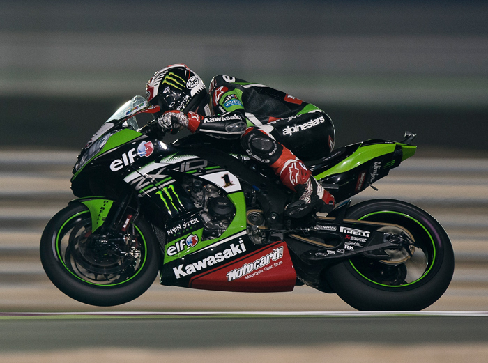 Jonthan Rea action photo Qatar SBK World Champion