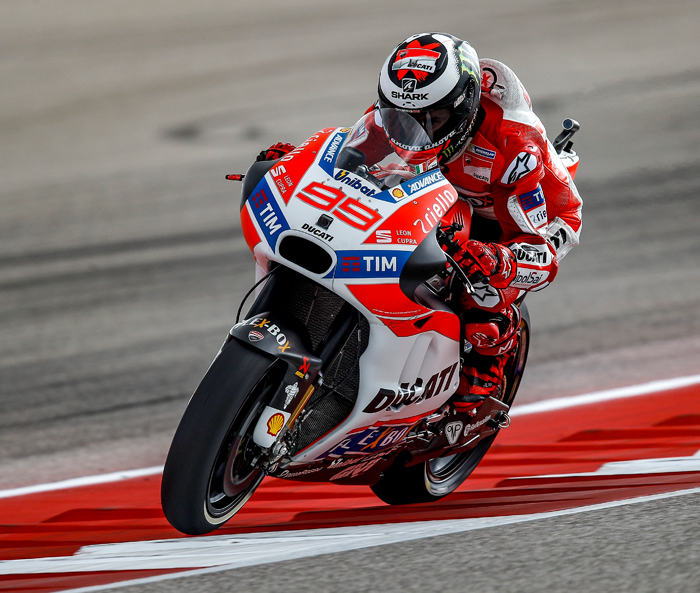 Jorge Lorenzo action photo Ducati MotoGP