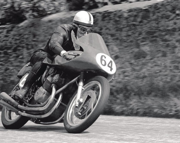 John Surtees MV Agusta action riding photo
