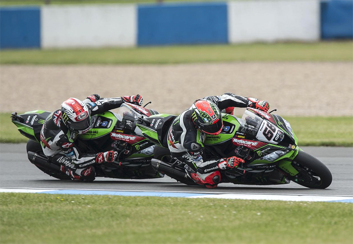 Sykes rae action kawasaki SBK Donnington