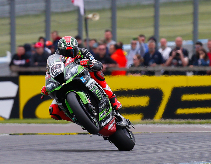 Tom Sykes Kawasaki wheelie